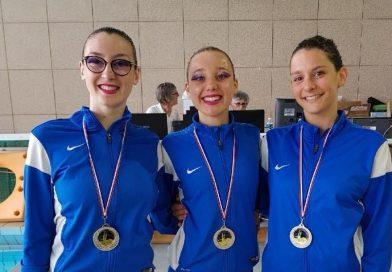 N3 Seniors Fina : médaille d'argent en duo technique