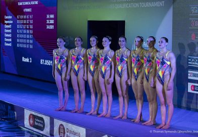 Marie Annequin et l'équipe de France en TQO